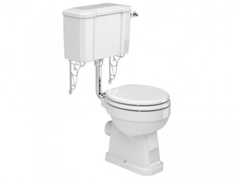 Adare Low Level Toilet pan, Cistern including Fittings & Soft Close Seat